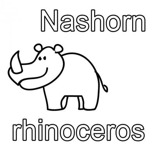 Kostenlose Malvorlage Englisch Lernen Ausmalbild Englisch Lernen Nashorn Rhinoceros Zum Ausmalen Ausmalen Englisch Fur Kinder Englisch Lernen