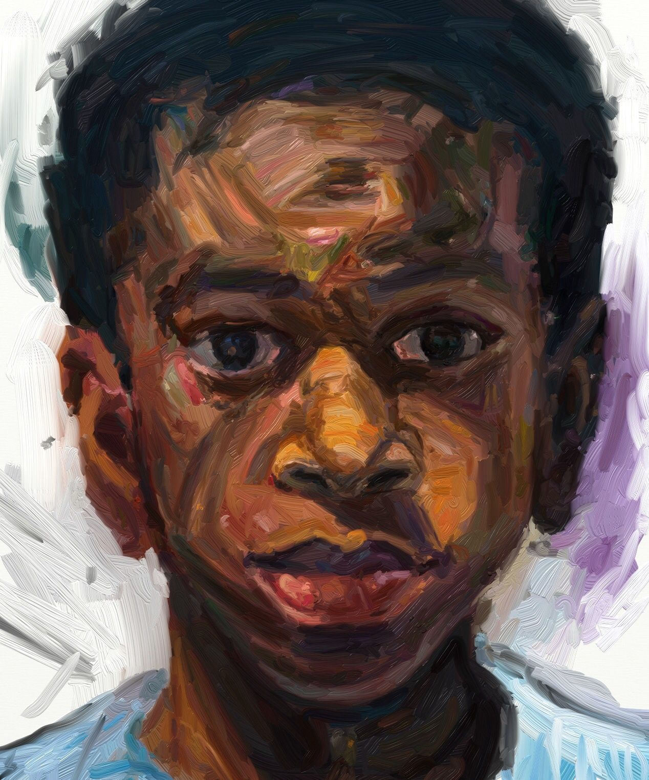 Study after Sedrick Huckaby's portrait of his son