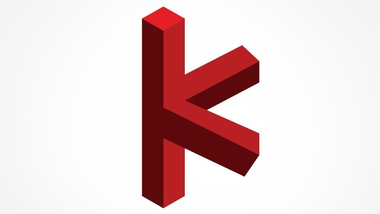 K Letter Logo Design Illustrator 3d K Letter Logo Design