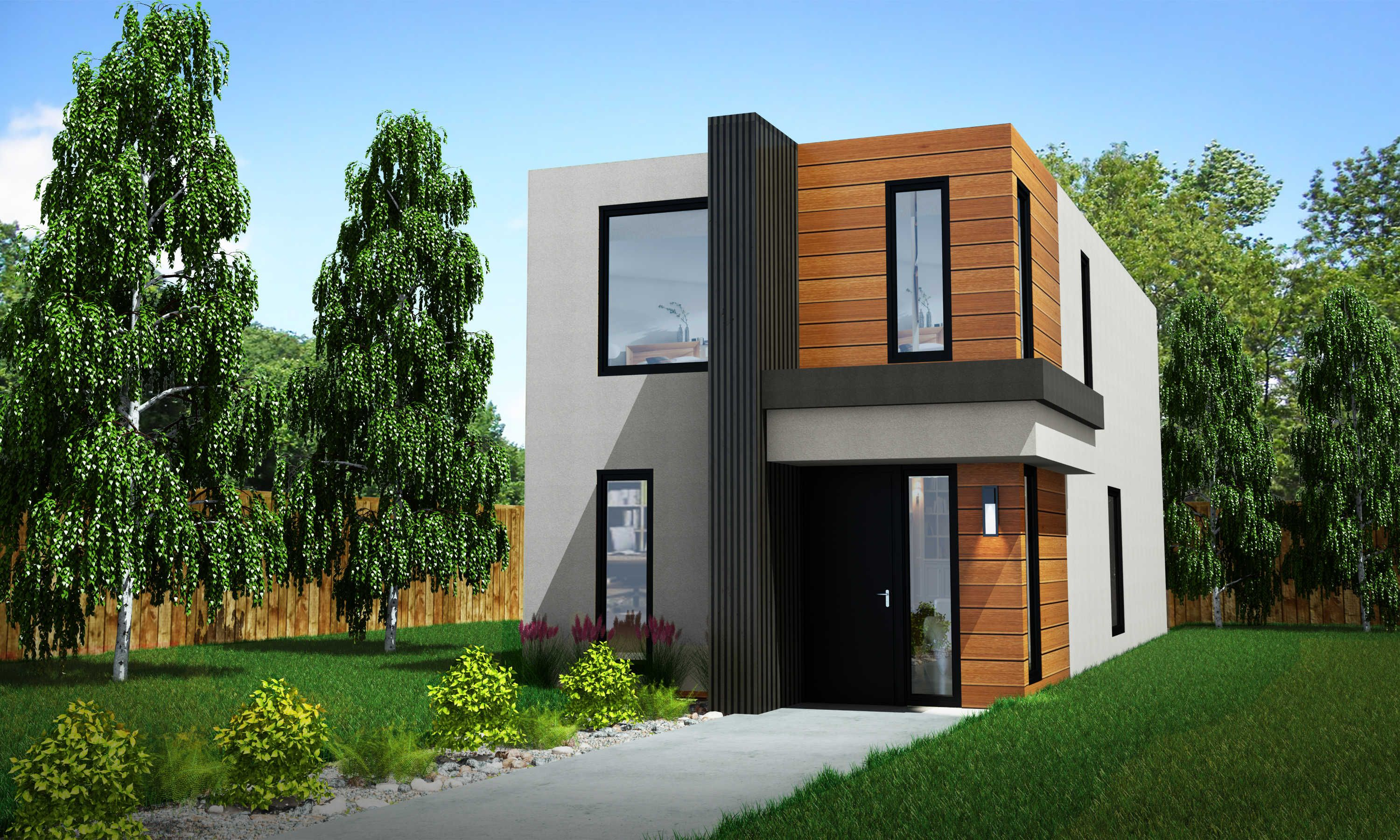 skinny home infill edmonton modern shipping container sea can home
