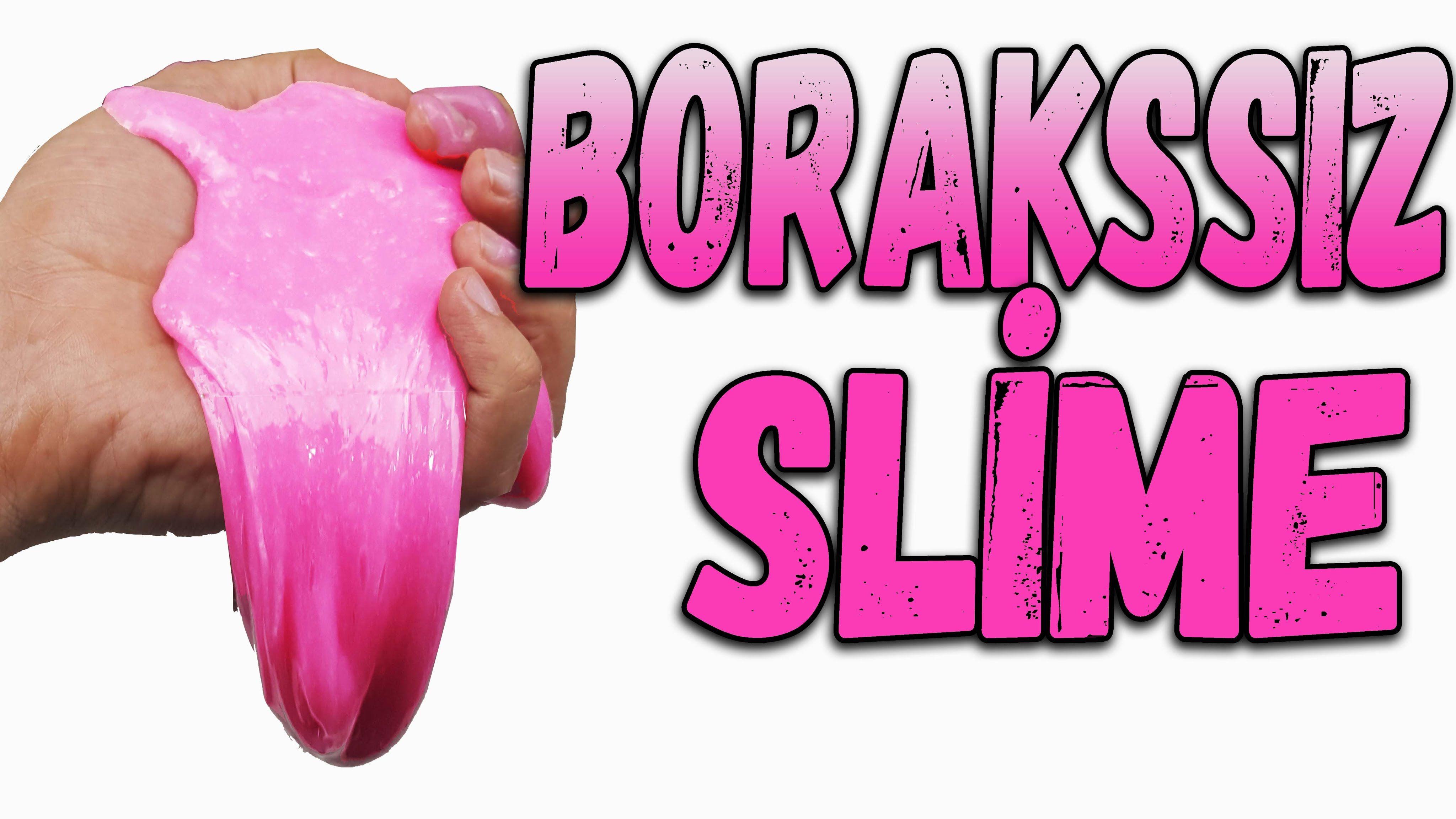 Borakssız Slime Nasıl Yapılır Boraks Olmadan Deterjan Ile Slime