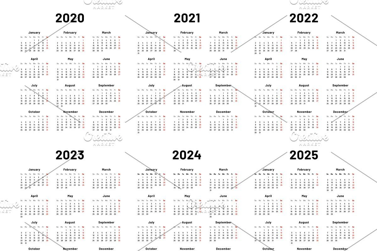 Calendar Grid 2020 2021 And 2022 Ye Planning Calendar Calendar Business Planner