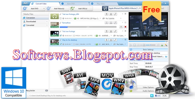 Any Video Converter Latest Version Download For Windows In 2020 Free Video Converter Video Converter Take Video