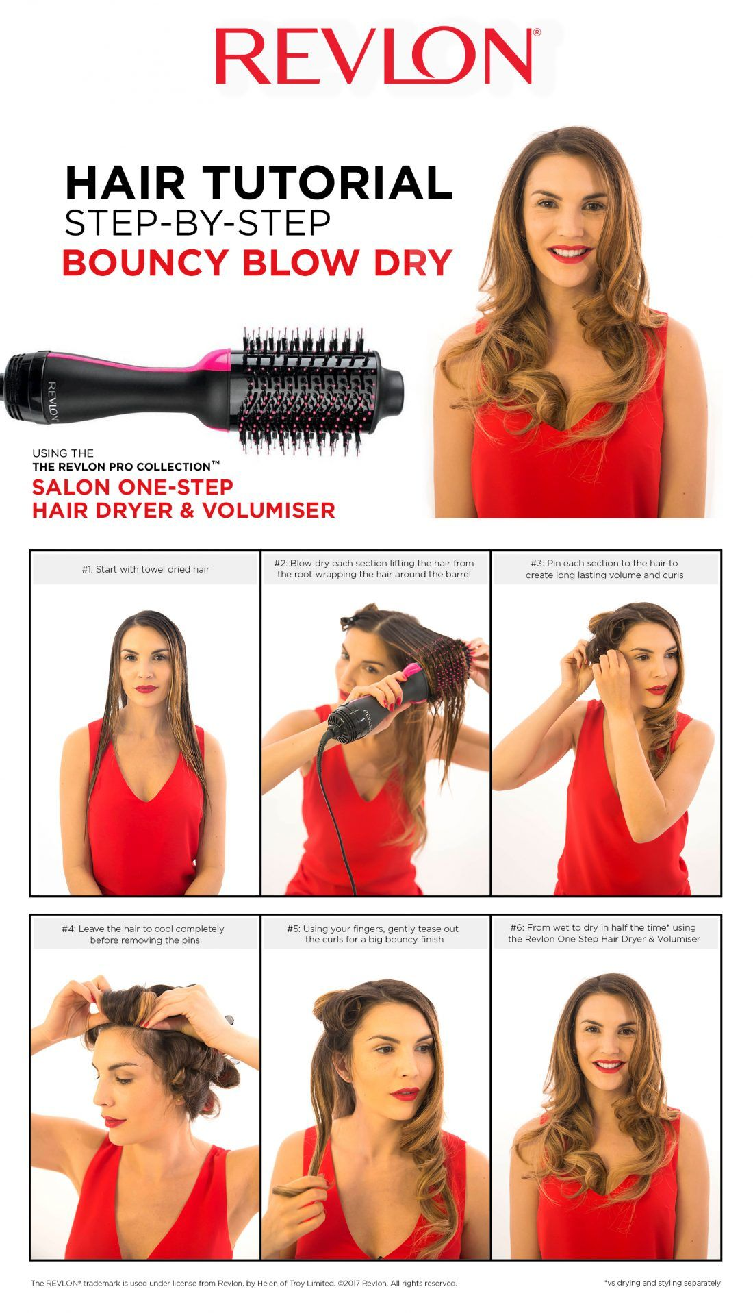 Ad revlon salon one step hair dryer volumiser hair
