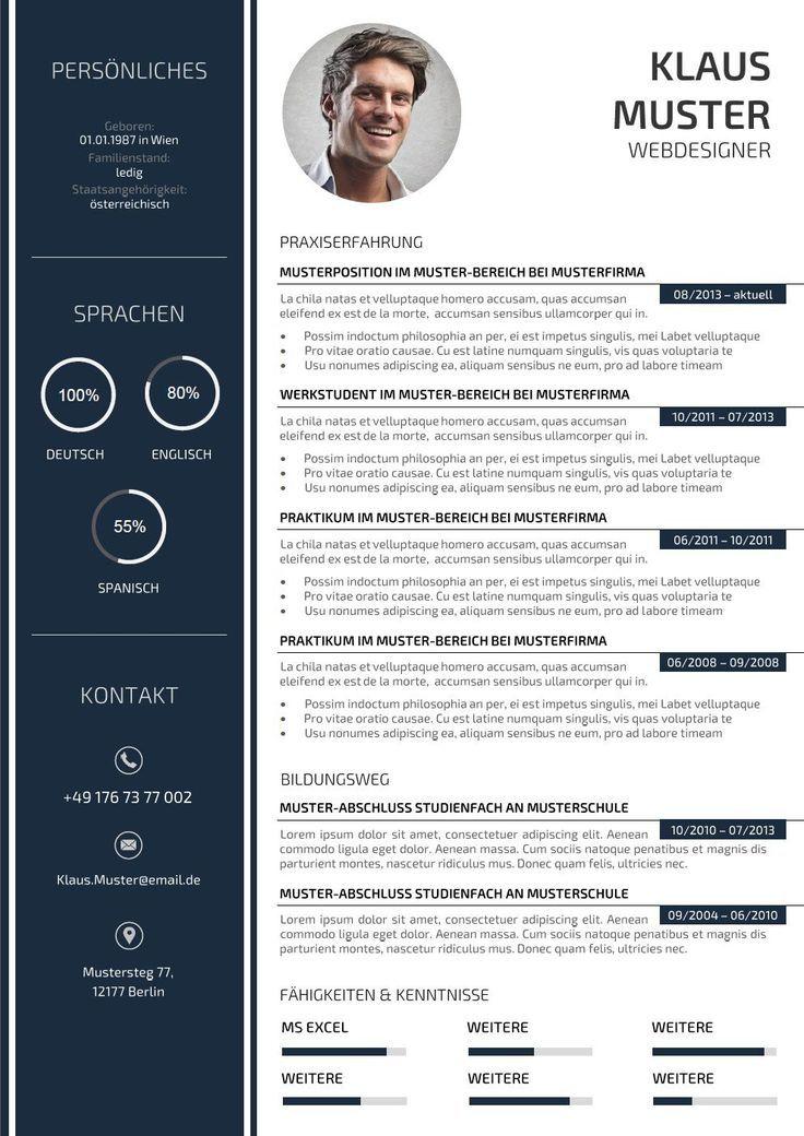 Lebenslauf Muster Vorlage Lebenslauf Mustervorlage Portfolio Vorlagen Lebenslauf Kreativer Lebenslauf Lebenslauf Design