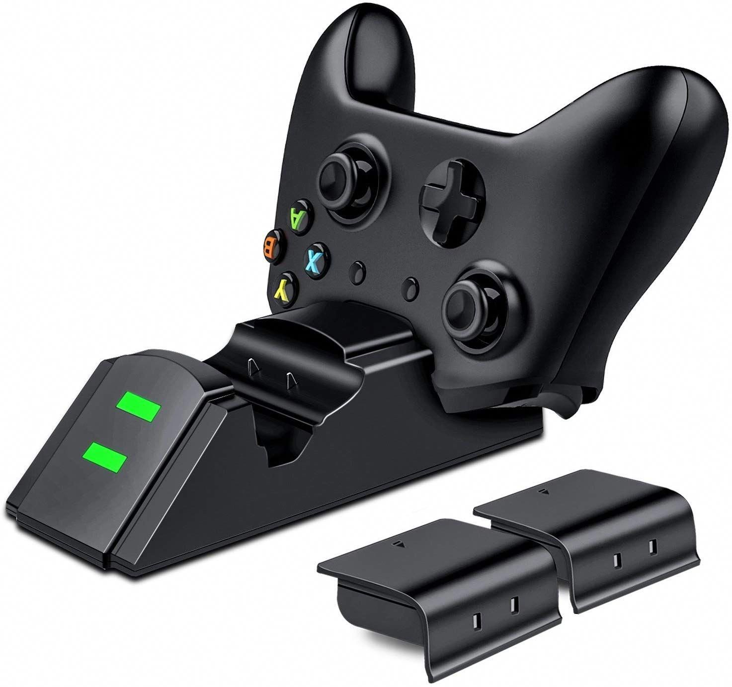 Esywen Xbox One Controller Charger With 2x 800mah Rechargeable Battery Pack Dual Charging Stati Xbox One Controller Wireless Controller Rechargeable Batteries