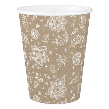 Rustic Kraft Floral Easter Paper Cup - paper gifts ...