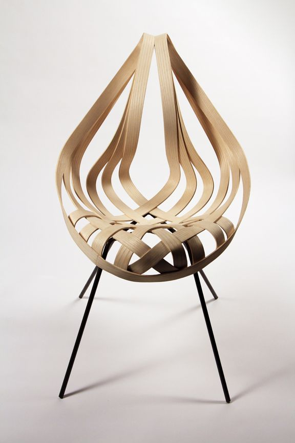Saji Chair, 2012 By Laura Kishimoto (mild Steel, Ash Veneer)