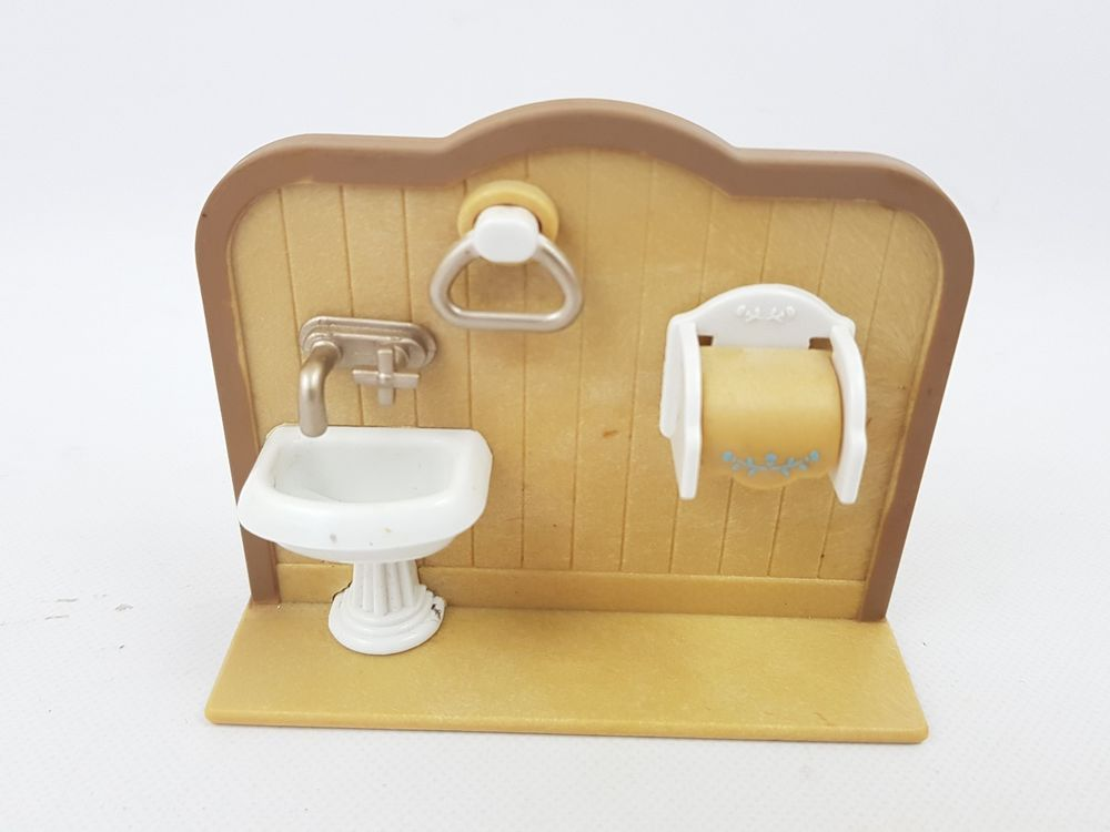Sylvanian Families Country Bathroom Sink Toilet Roll Towel Holder Replacement Bathroom Sets Sylvanian Families How To Roll Towels