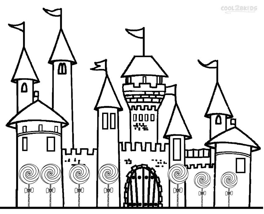 Printable Candyland Coloring Pages For Kids Cool2bkids Castle Coloring Page Cool Coloring Pages Cartoon Coloring Pages