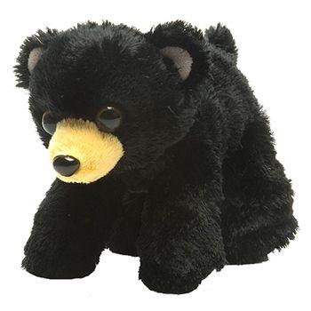 Hug Ems Small Black Bear Stuffed Animal By Wild Republic Bears