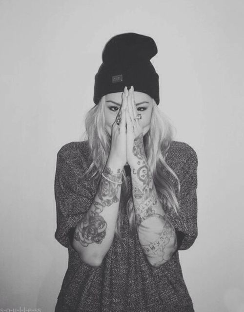 Black And White Sleeve Tattoos For Women Tumblr Photograph