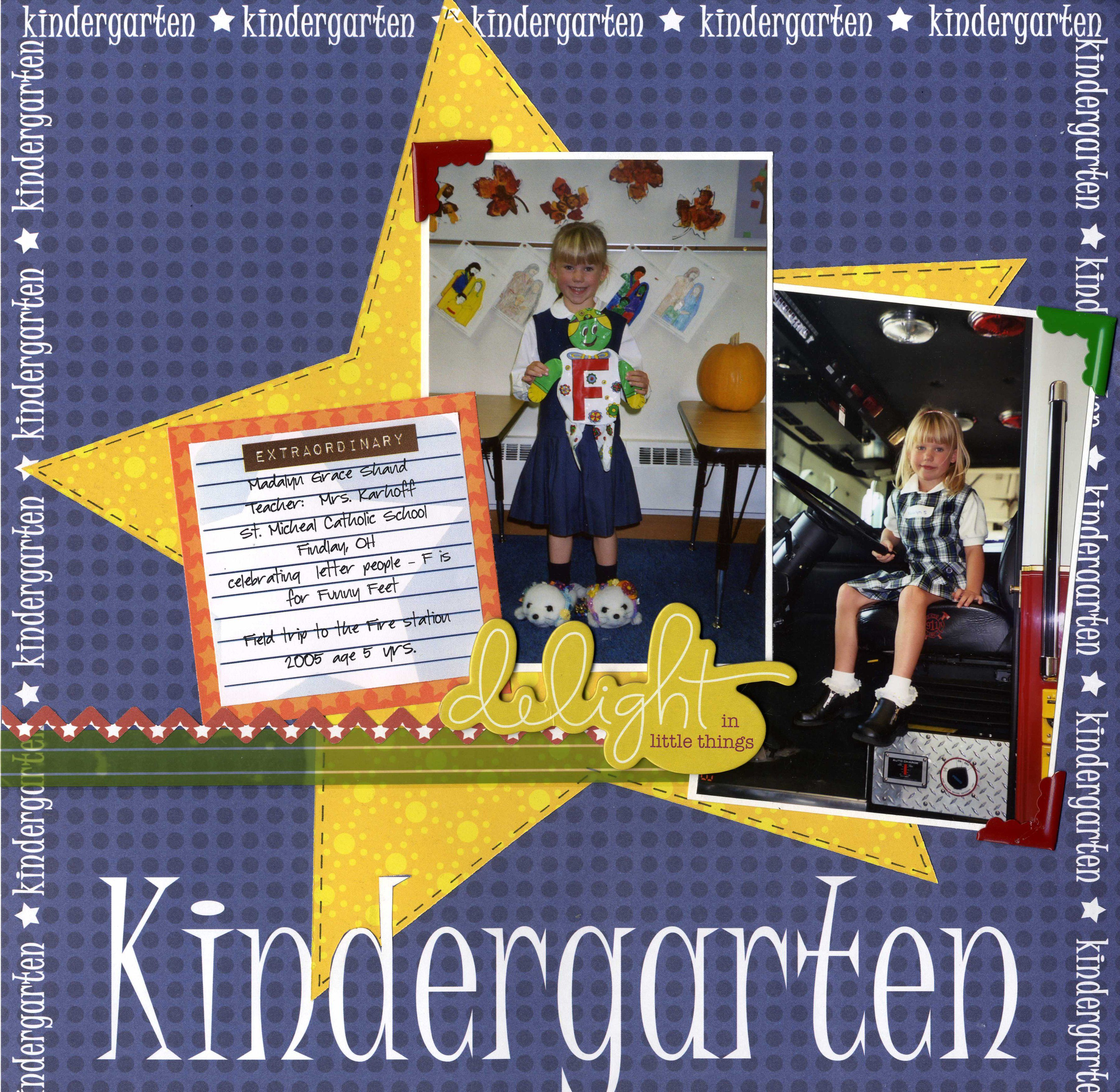 Scrapbook ideas kindergarten - Kindergarten Scrapbook Com