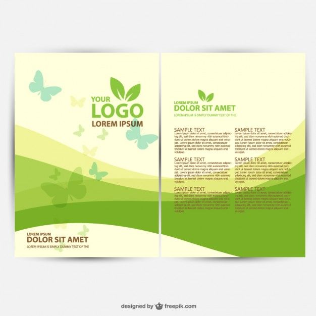 Brochure Ecology Template Vector Free Download Andre Pinterest - Free download brochure design templates