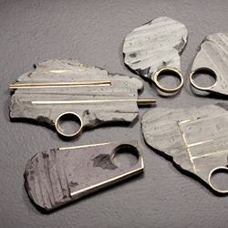 NOY ALON-IL Jewelry designer Noy Alon makes amazing statement pieces out of epoxy putty, with a concrete-like finish, and gold plated brass.