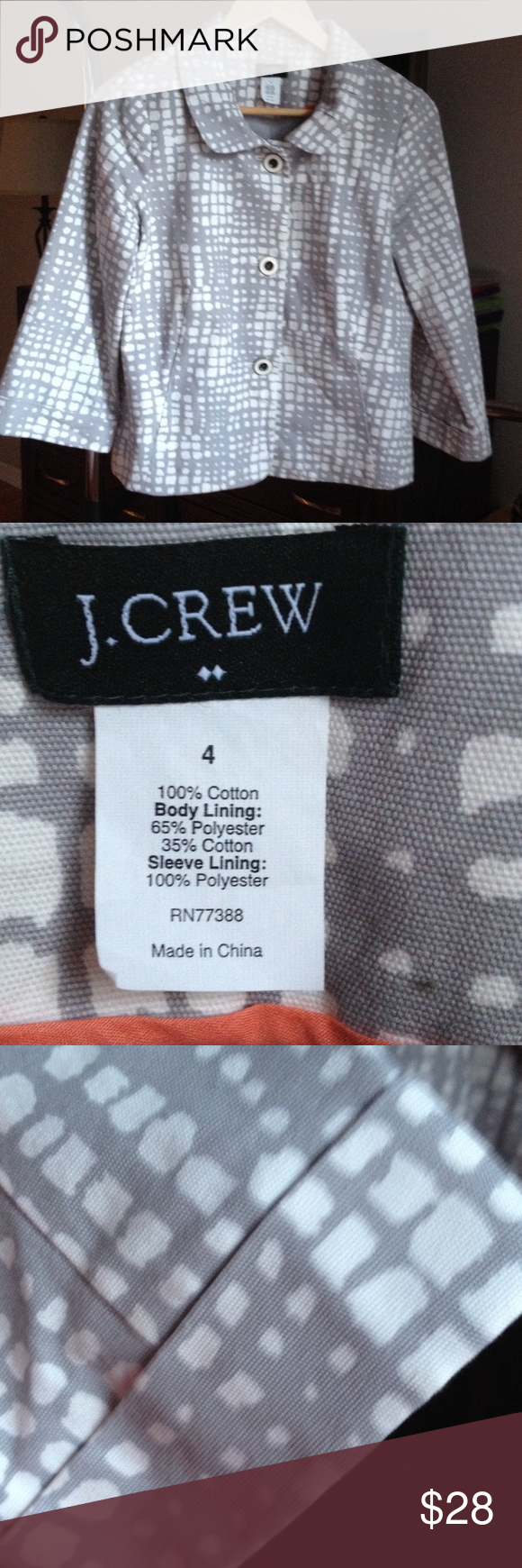 J. Crew Factory Store . Jacket . Size 4 Excellent condition . J. Crew Jackets & Coats