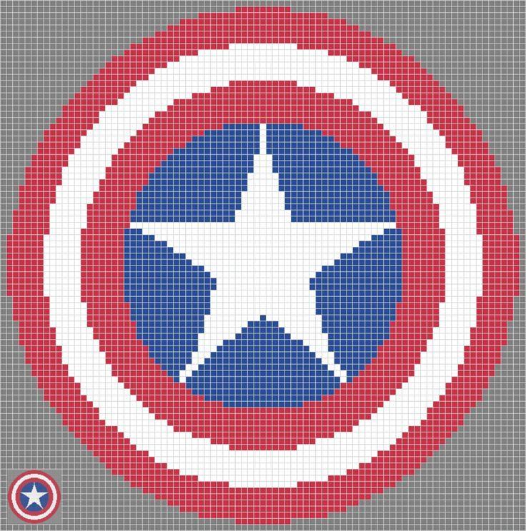 crochet captain america blanket - Google-Suche   DIY - Pixel ...