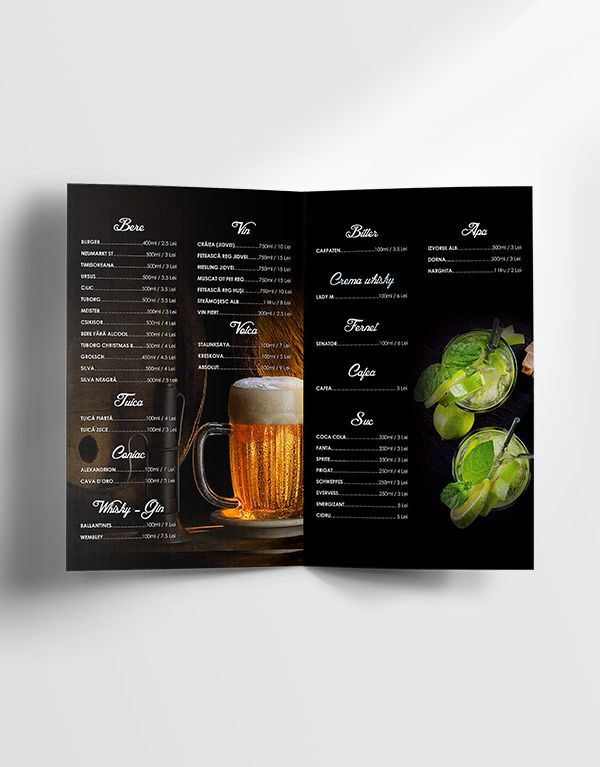 Free Drinks Menu Template Menu Design Template Drink Menu Menu