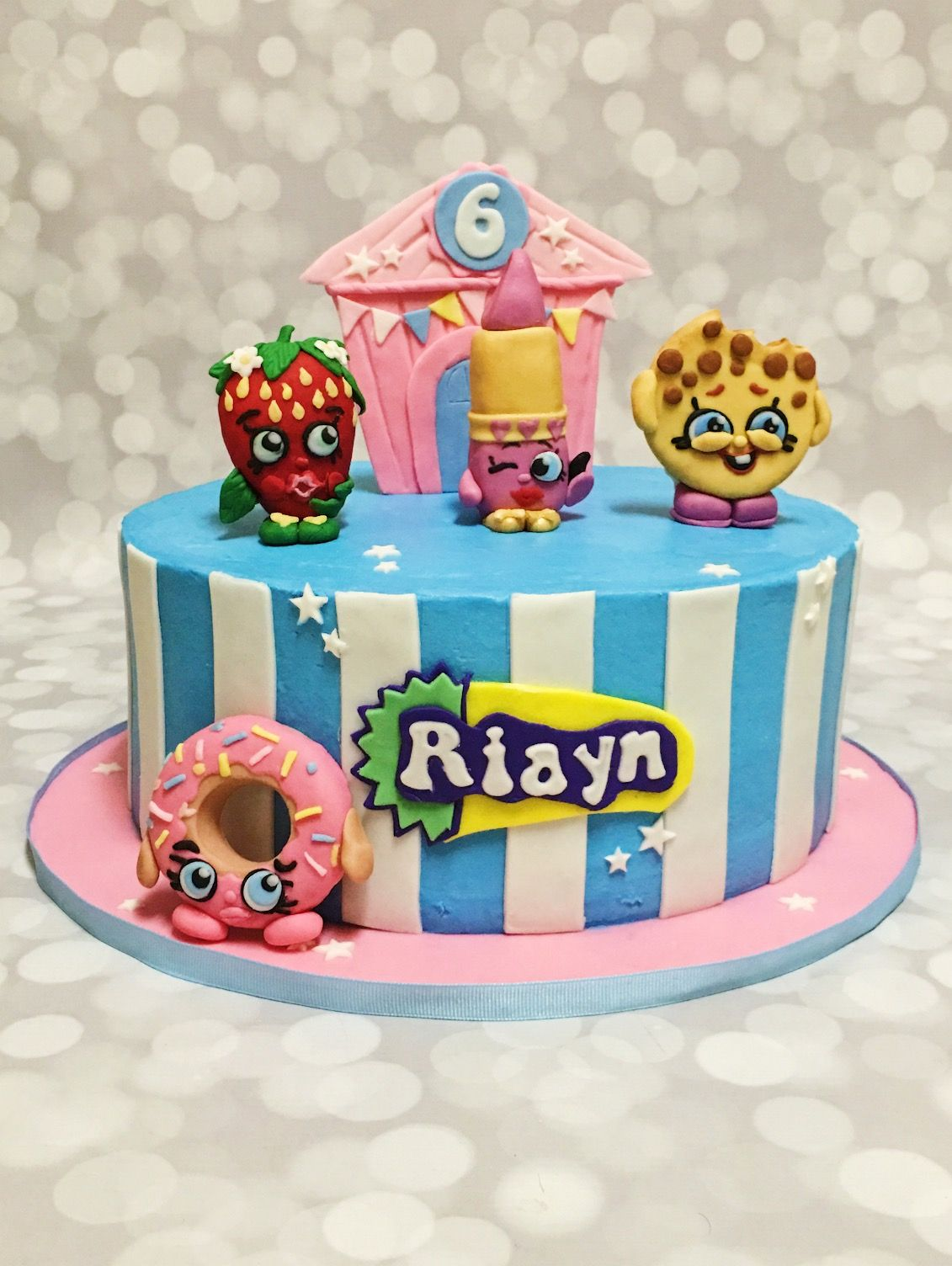 Custom Shopkins Cake by A Little Slice of Heaven Bakery in Atlanta