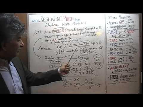 Algebra Word Problems 101-102, Online Prep Tutor, GRE, GMAT, TEAS, HESI,...