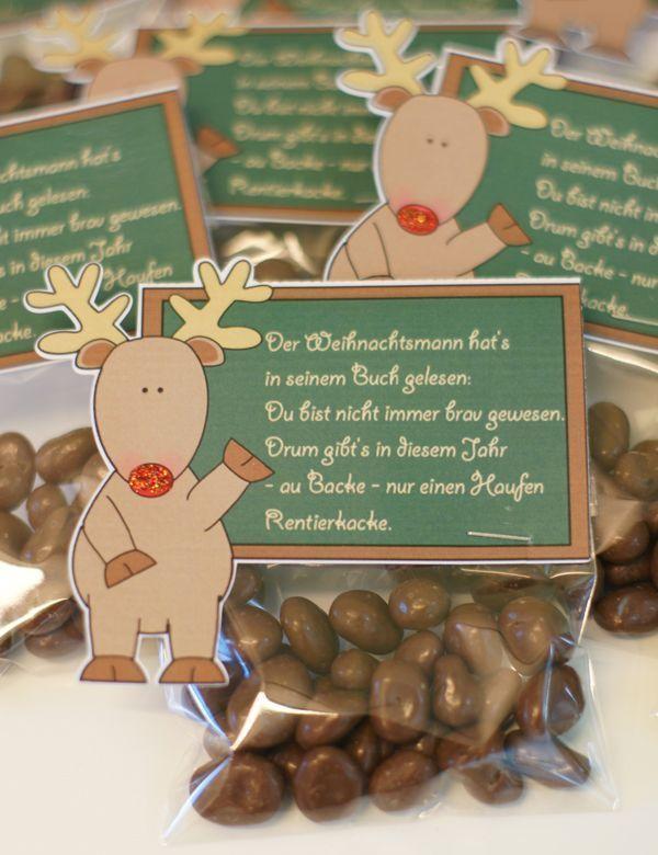 Goodies: Rentierkacke - #Goodies #Rentierkacke - #Goodies #Rentierkacke #weihnachtsgeschenkkollegen