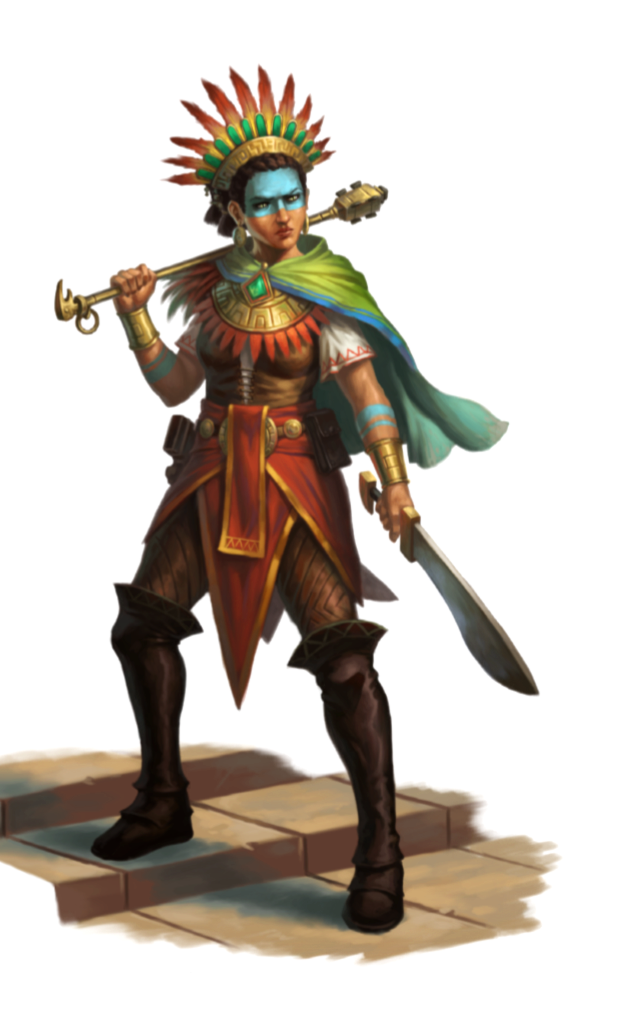 Female Human Aztec Fighter Pathfinder Pfrpg Dnd D D 3 5 5e 5th Ed D20 Fantasy Tribal Warrior Aztec Warrior Dungeons And Dragons Characters