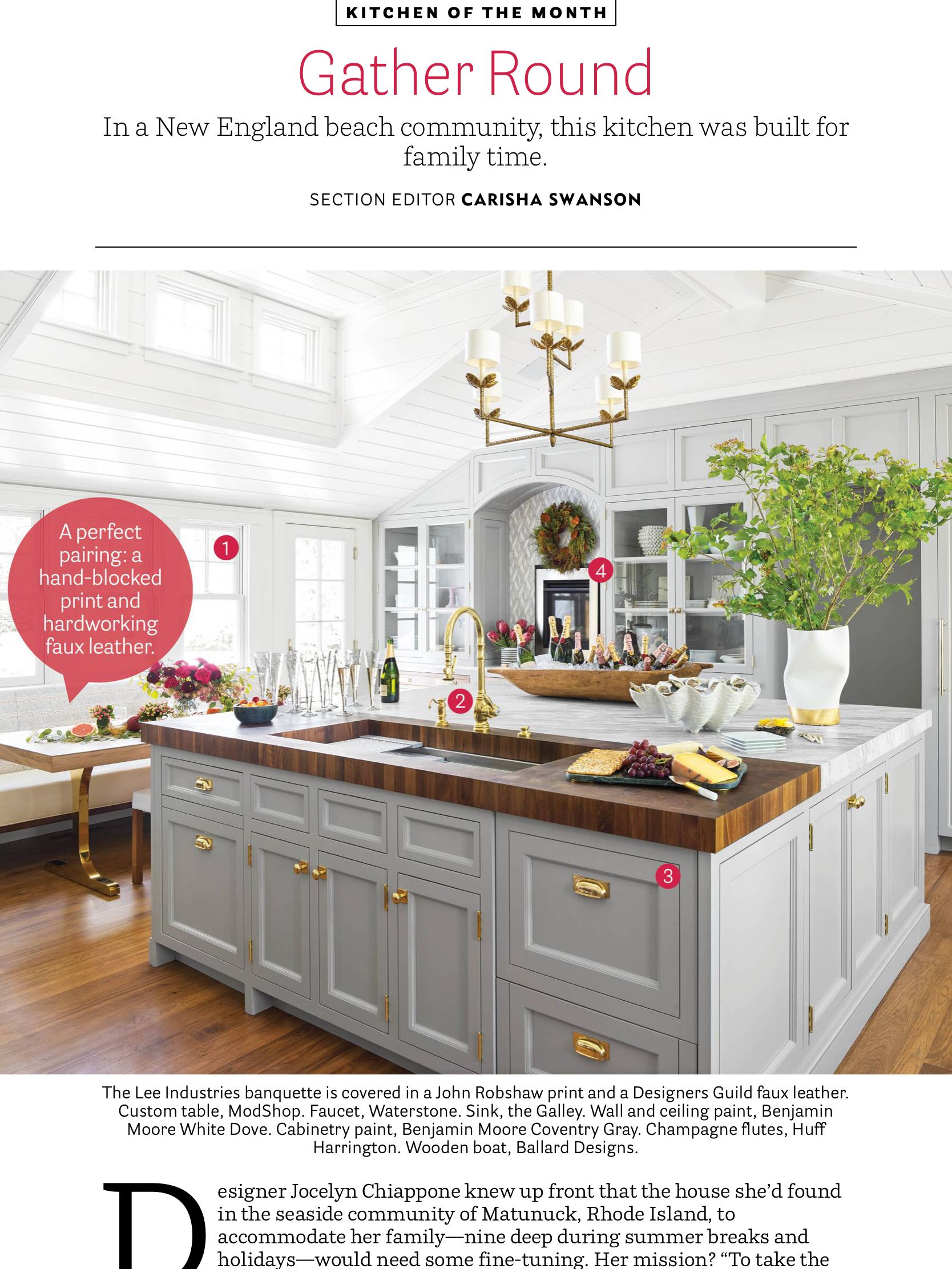 kitchen of the month from house beautiful dec 2018 jan 2019 rh pinterest com