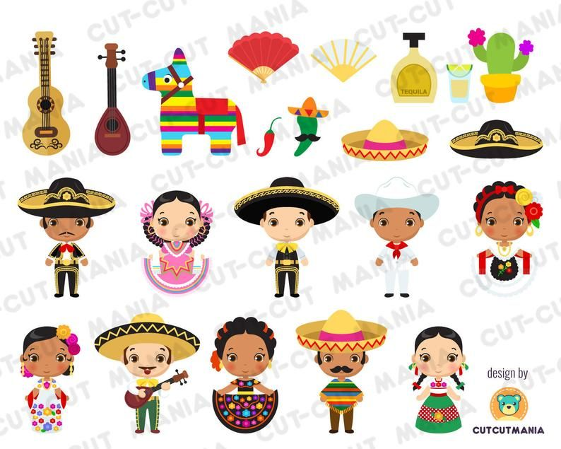 Viva Mexico Cute Cliparts Mexican Fiesta Charro Pinata Mexican Party Mexican Folklore Digital Cliparts Aztec Png 300 Dpi Svg Files Artesania Mexicana Mexican Folklore Dia De Muertos Imagenes