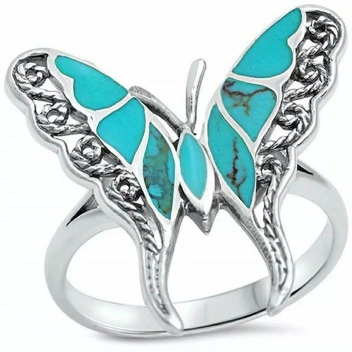 New Turquoise Butterfly Ring ,  #Butterfly #Ring #Turquoise #weddingideasturquoisesilver