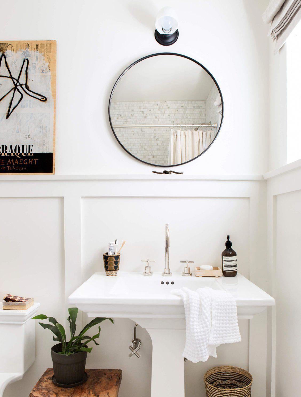 30 Oil Rubbed Bronze Round Metal Framed Mirror Rejuvenation In 2021 Bathroom Mirror Bathroom Makeover Round Mirror Bathroom