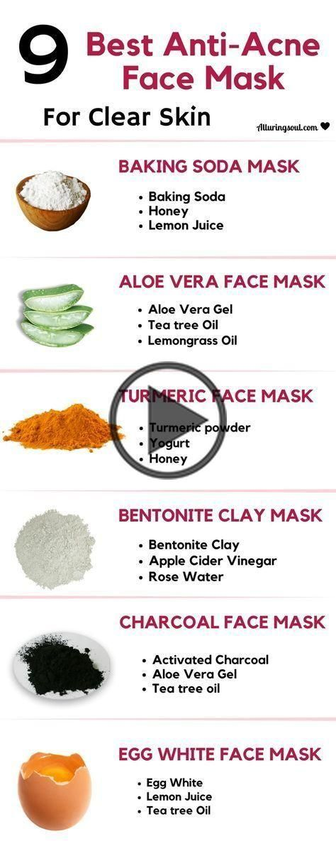 Photo of homemade face masks for