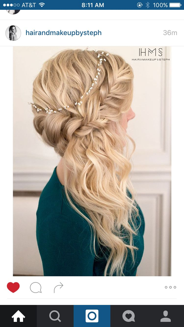 Side pony wedding hair pinterest side pony pony and hair style