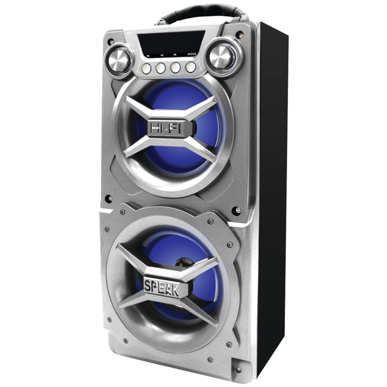 hight resolution of sylvania sp328 silver portable bluetooth speaker silver