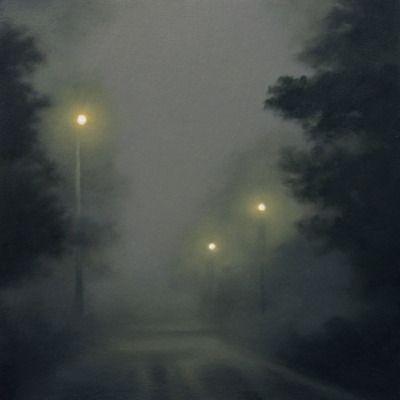 Gill Rocca (British, b. 1971), Anywhere III, 2012. Oil on wood, 15 x 15 cm.