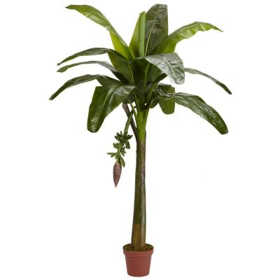 Nearly Natural Real Touch 6 ft. Green Banana Silk Tree-5338 - The Home Depot