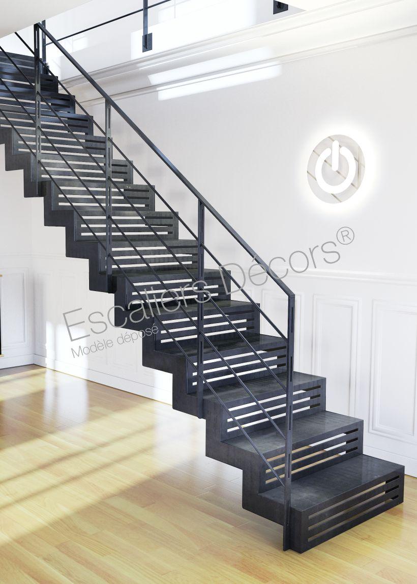 Escalier Droit En Acier Escaliers Decors Staircase Design