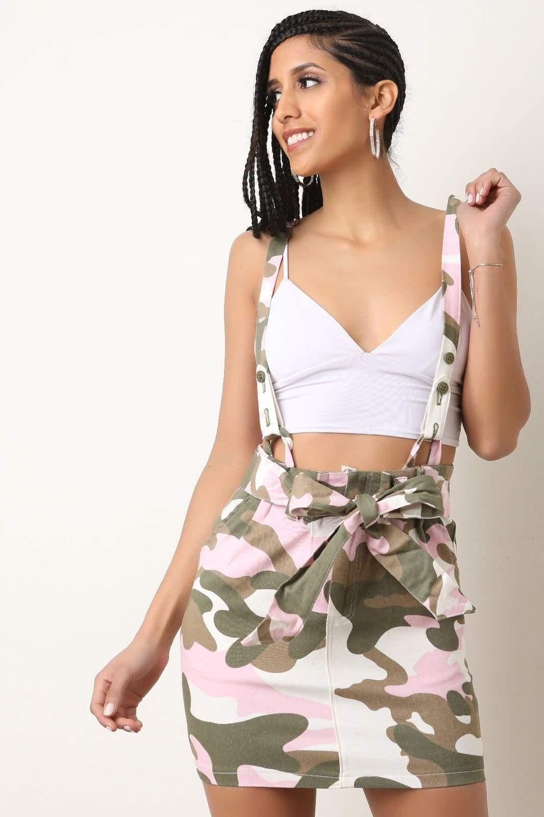 086a714ed25c Pink Camo Suspender Mini Skirt in 2019 | Heels | Fashion, Skirts, Mini  skirts