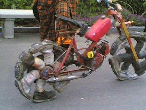 Funny Motorbike Tires With Images Wierd Pictures Bike Motorcycle