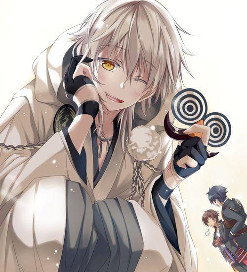 Anime White Hair Yellow Eyes Anime Cute Anime Guys Anime Boy