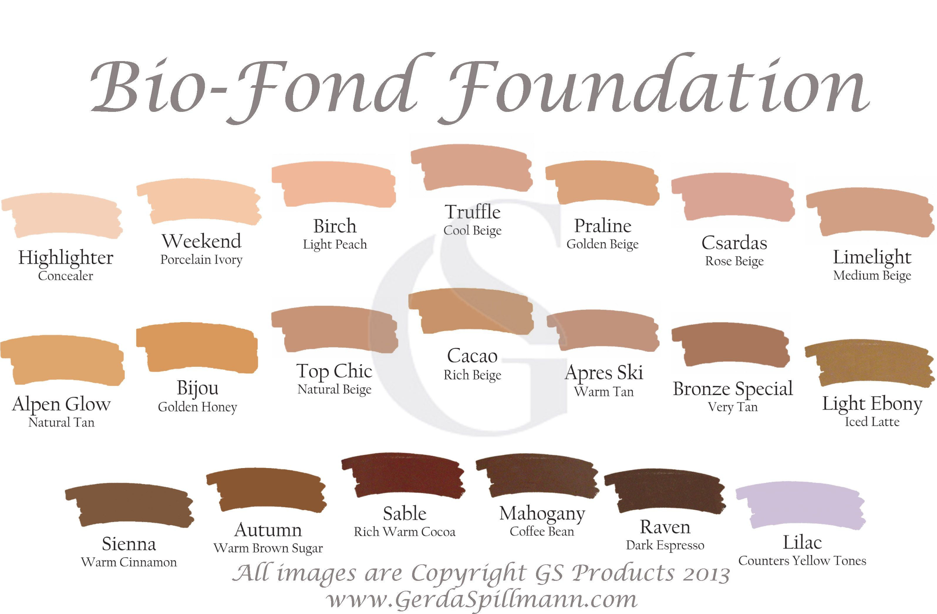 Bio Fond Color Chart With Watermark Copyg 31922091 Lost