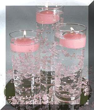 Photo via. Party Decoration IdeasCenterpiece ... & Photo via | Floating candles Centerpieces and Wedding reception ...