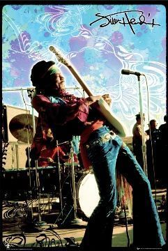 Jimi Hendrix Poster Pack Lot of 4 Different Posters - Collectibles Entertainment Memorabilia