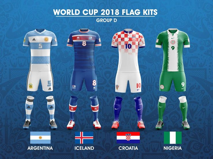 32 Stunning World Cup Flag Kit Concepts Revealed Footy Headlines World Cup World Cup Kits World Cup Groups