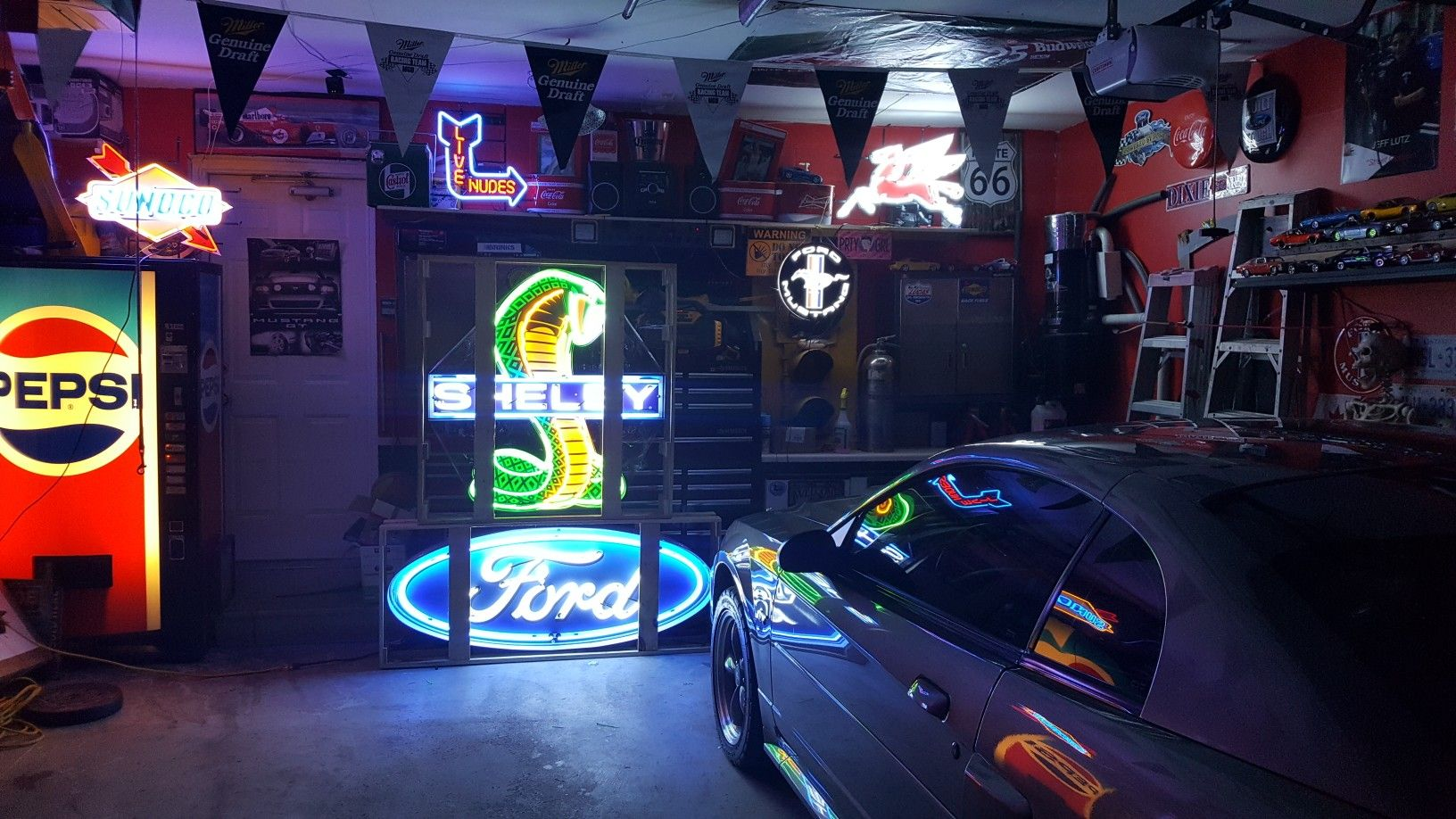 5ft Ford And 43x45in Shelby Man Cave Signs Garage Decor Shelby
