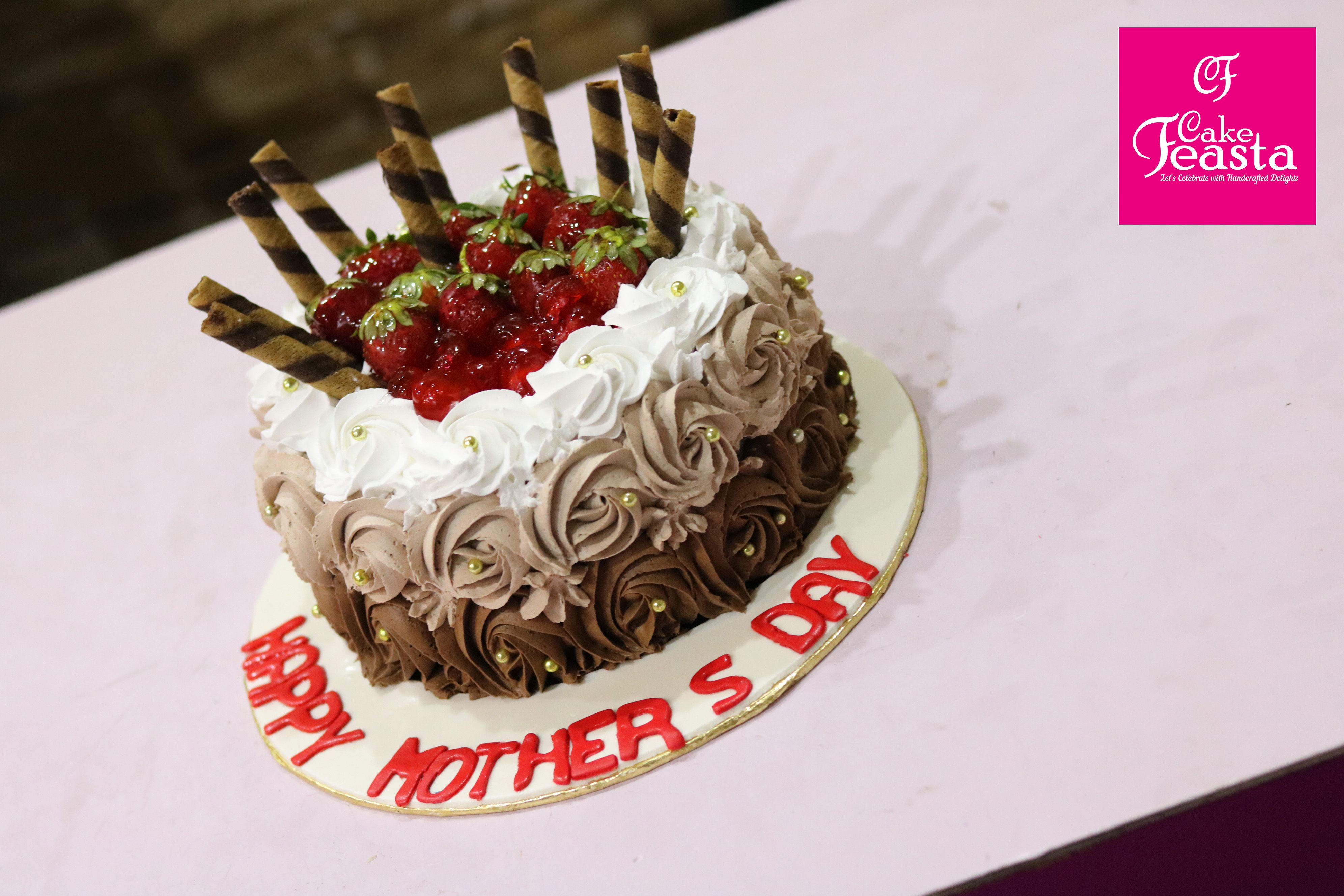 Choco Strawberry Mother S Day Cake Mothersday Teamfeasta