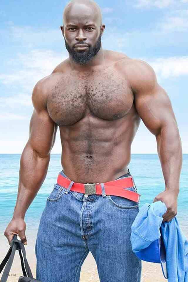 Hairy black mature