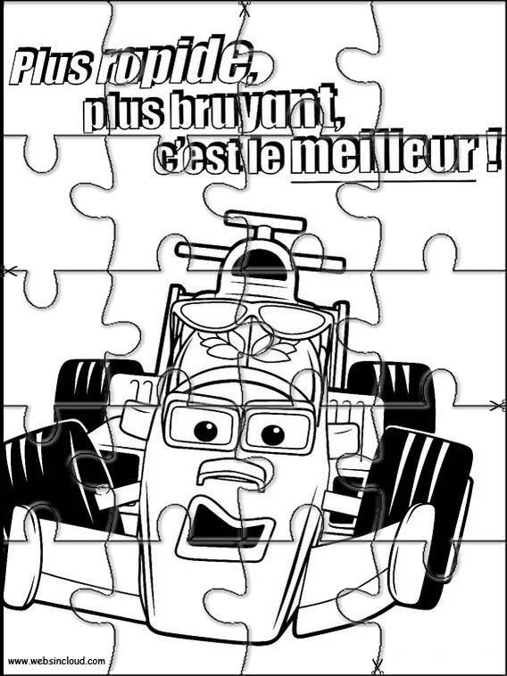 Puzzles rompecabezas recortables para imprimir Roary el carrito veloz 3
