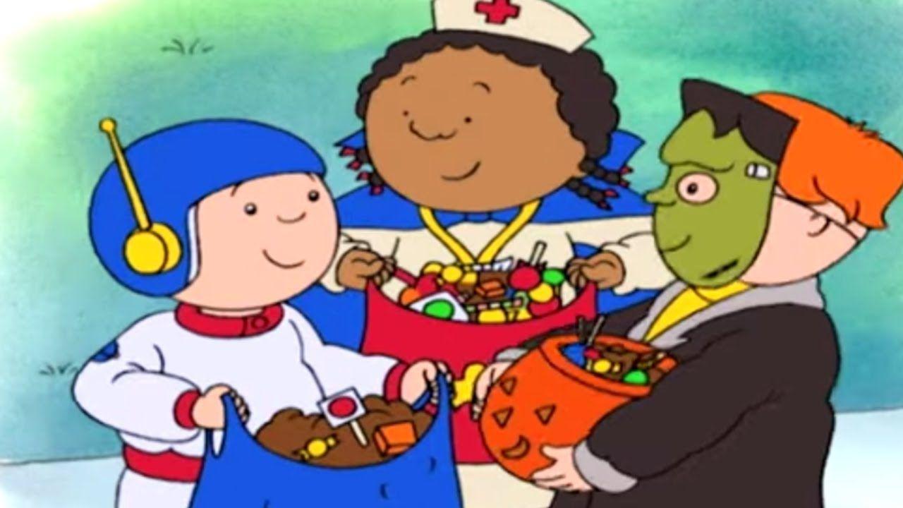 Caillou English Full Episodes Caillou S Halloween Treats Cartoon Movie Cartoons For Kids Youtube Cartoon Kids Cartoon Movies Halloween Cartoons