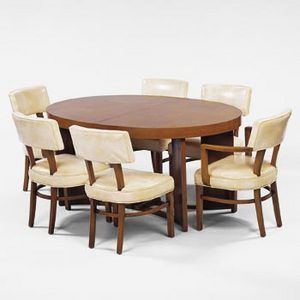 Gilbert Rohde Dining Chairs Table Set