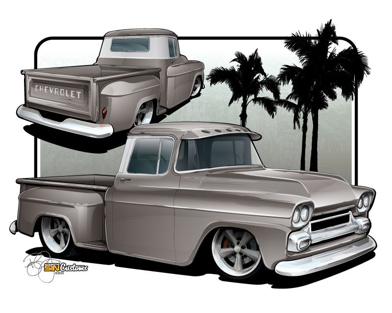 Vehicle Rendering And Illustration By Sin Customs Artist Ryan